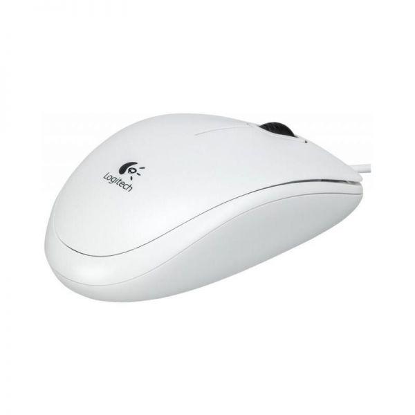 Logitech B100 optische USB Maus | Weiß| Neu 910-003360