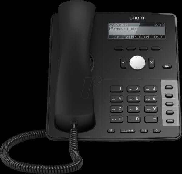 SNOM 710 VoIP SIP Telefon mit Netzteil mit Fuß SNOM 710 R4A