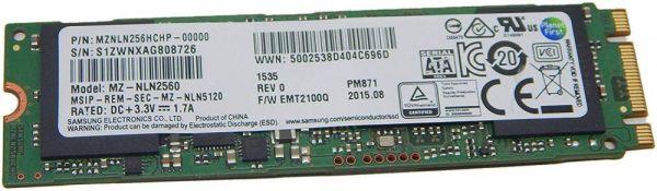 256 GB m.2 2280 SSD | Samsung | PM871 804216-001