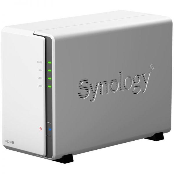 Synology DS218j | 2-Bay - ohne Festplatten | Weiß DS218J