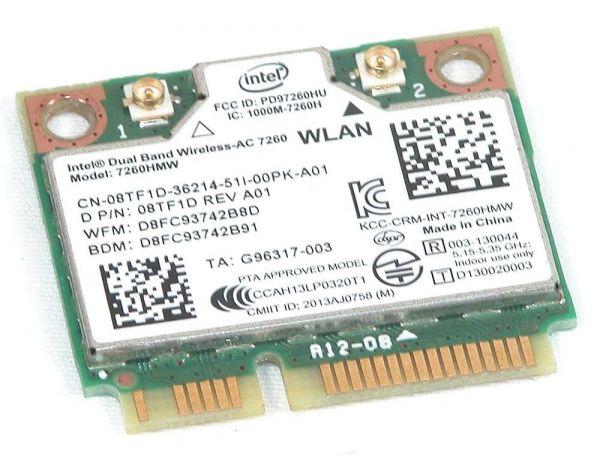 Dell WLAN-Modul   Dual Band Wireless-AC 7260   7260HMW   BT 7260HMW