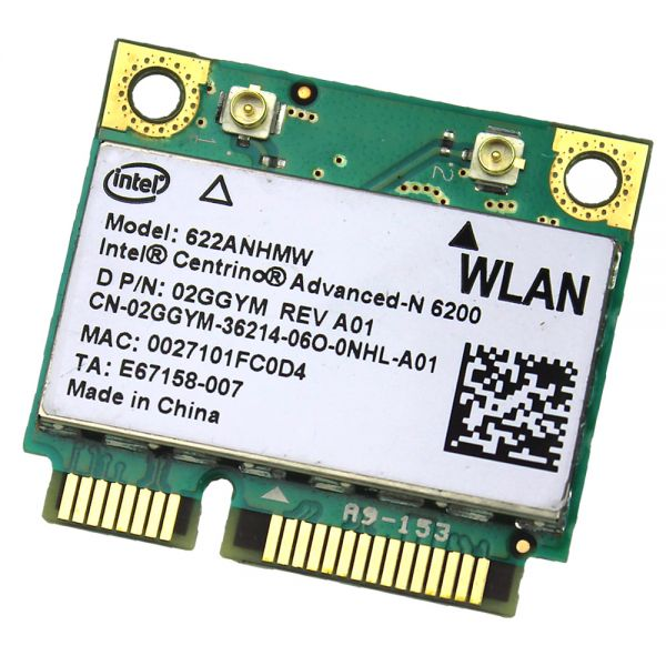 Dell WLAN-Modul | Intel Centrino Advanced-N 6200 | 622ANHMW 622ANHMW