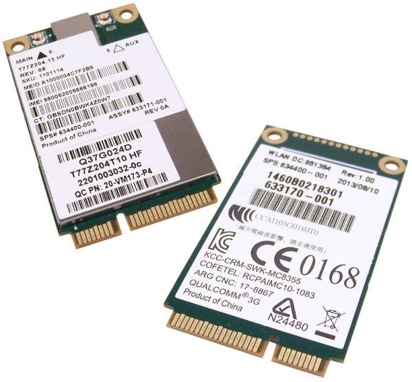 HP hs2340 F5521gw HSPA+ UMTS Mobiles Breitbandmodul 632155-001