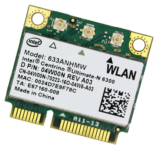HP WLAN-Modul | Intel Centrino Ultimate-N 6300 | 633ANHMW | 633ANHMW