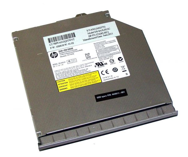 DVD-Brenner HP Elitebook 8560p, 8570p inkl. Blende 651042-001